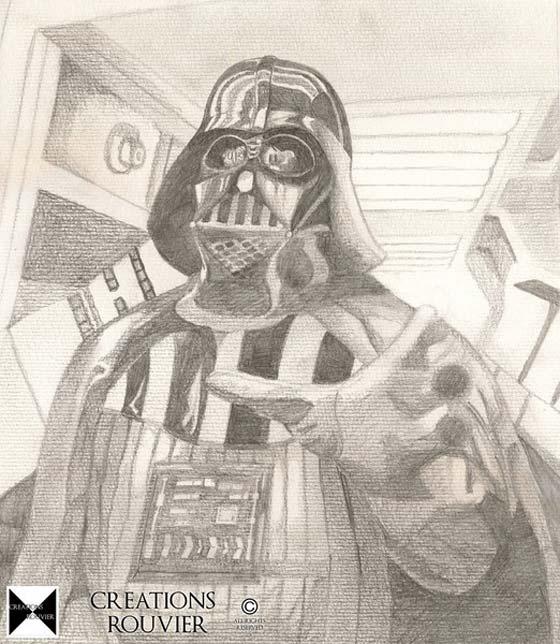 Dessins au crayon personnages incroyables de star wars - Dessin dark vador ...